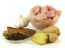 Curry dish - ingredients Royalty Free Stock Photo