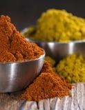 Curry'ego i papryki proszek Zdjęcie Stock