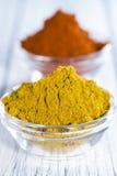 Curry'ego i papryki proszek Obraz Stock