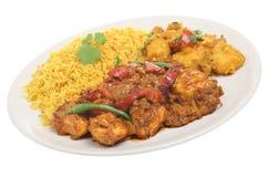 Curry'ego indiański Posiłek Zdjęcie Stock