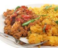Curry'ego indiański Posiłek Fotografia Royalty Free