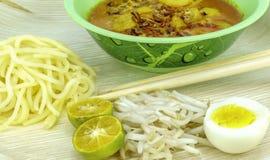 Curry'ego kluski Zdjęcie Stock