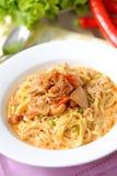 Curry'ego kluski - khao soi Zdjęcie Royalty Free