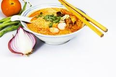 Curry'ego laksa Fotografia Royalty Free