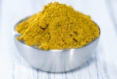 Curry'ego proszek (w pucharze) Zdjęcie Stock