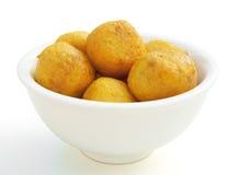 Curry'ego smaku rybie piłki Obrazy Royalty Free