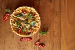 Curry'ego tuńczyka pizza Obraz Royalty Free