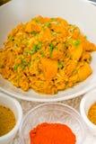 Curry'ego wołowiny ryż i grule Obraz Stock
