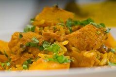 Curry'ego wołowiny ryż i grule Zdjęcie Stock