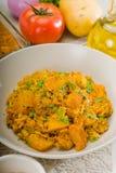 Curry'ego wołowiny ryż i grule Zdjęcia Royalty Free