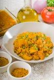 Curry'ego wołowiny ryż i grule Zdjęcie Royalty Free