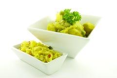 Curry in einer weißen Schüssel Lizenzfreies Stockfoto