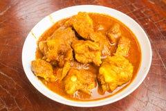 Curry för grisköttstöd Arkivfoton