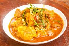Curry för grisköttstöd Royaltyfri Bild