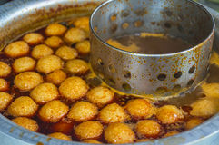 Curry fish ball. Hot and spicy curry fish ball Royalty Free Stock Image