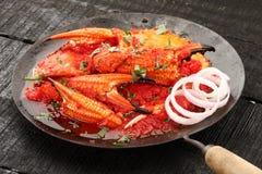 Curry fresco e arrostito delizioso del granchio Immagini Stock Libere da Diritti