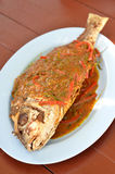 Curry fry fish Royalty Free Stock Photo
