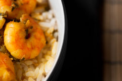 Curry-Garnelen mit Reis 02 lizenzfreie stockfotos