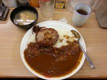 Curry giapponese della carne di maiale, alimento giapponese, Giappone Fotografia Stock