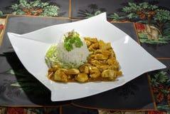 Curry Huhn Stockbild