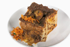 Curry i urgröpt bröd som är bekant som Bunny Chow Fotografering för Bildbyråer