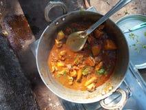 Curry India del pollo fotografia stock