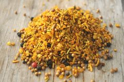Curry from india spice and condimentation food oriental Stock Image