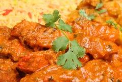 Curry indiano caldo del pollo Fotografia Stock Libera da Diritti