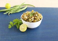 Curry indiano dei fagiolini del piatto laterale Immagini Stock Libere da Diritti