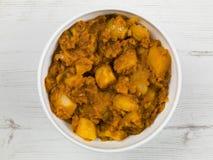Curry indiano di Bombay Aloo di stile Fotografia Stock Libera da Diritti