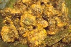 Curry indio caliente del pollo que fuma que es hecho Fotos de archivo libres de regalías