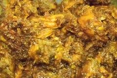 Curry indio caliente del pollo que fuma que es hecho Fotografía de archivo