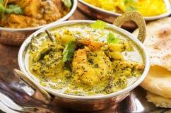 Curry indio de la gamba fotografía de archivo libre de regalías