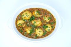 Curry indio del huevo imagen de archivo libre de regalías