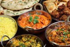 Curry indio del pollo de la mantequilla Foto de archivo libre de regalías