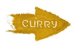 curry isolerat pulver fotografering för bildbyråer