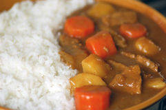 Curry japonés de la carne de vaca. Foto de archivo