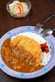Curry japonés del cerdo de la fritada del alimento Imagenes de archivo
