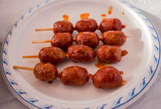 Curry kiełbasy kebab fotografia stock