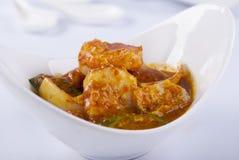 Curry krewetka z owoce morza zdjęcia stock