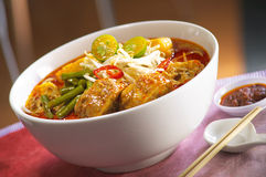 Curry laksa noodle. Image of curry laksa noodle royalty free stock photography