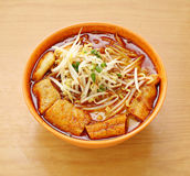 Curry Laksa which is a popular traditional spicy noodle soup fro Royalty Free Stock Image