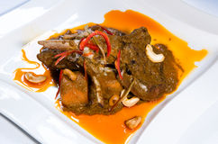 Curry lamb leg dish Stock Photos