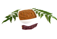 Curry Leaves chutney Stock Photo