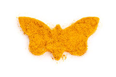 Curry (madras curry) isolated in butterfly shape stock photography