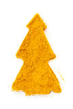 Curry (madras curry) isolated in christmas tree Stock Photos