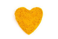 Curry (Madras Curry) isolated in heart shape Royalty Free Stock Photo