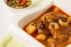 Curry massaman del pollo Fotografia Stock Libera da Diritti
