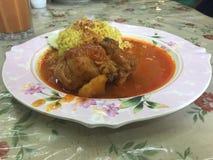 Curry massaman del pollo Fotos de archivo libres de regalías