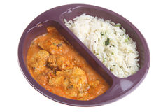 Curry Microwave Ready Meal. Microwavable chicken tikka masala curry & rice Royalty Free Stock Photo